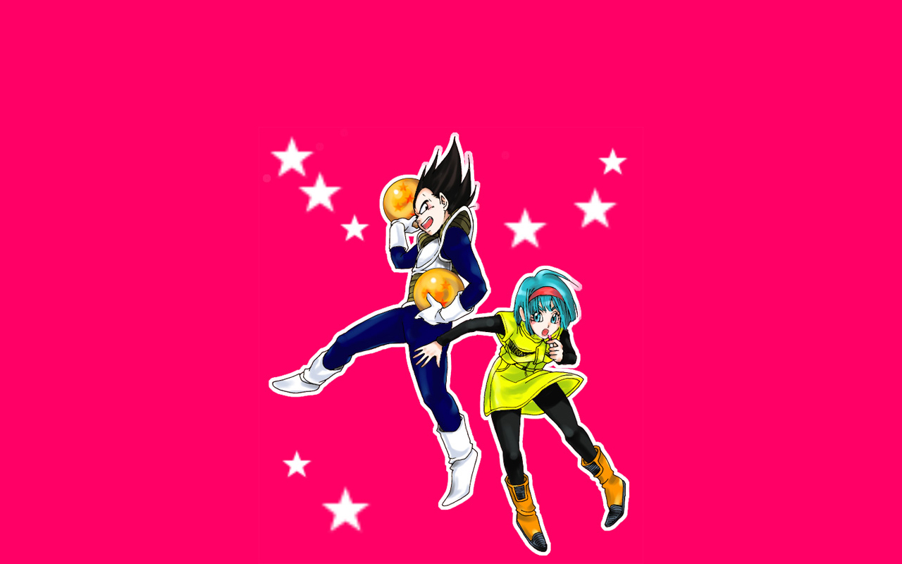 Bulma X Vegeta wallpaper