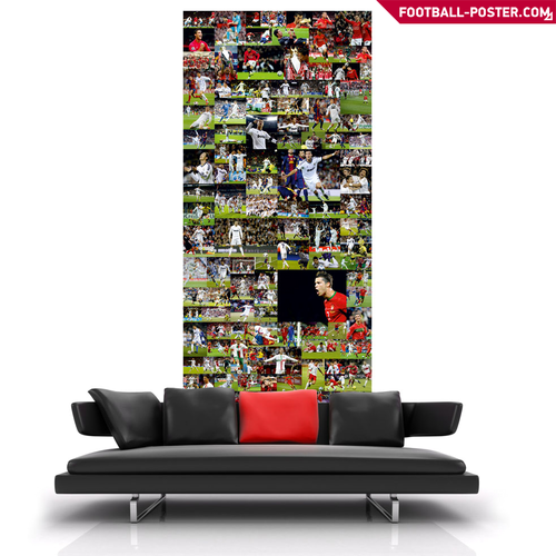 Cristiano Ronaldo wallpaper possibly with a family room, a davenport, and a living room called CRISTIANO RONALDO poster