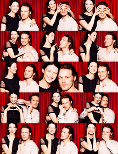 serial tv outlander 2014 wallpaper called Caitriona Balfe and Sam Heughan