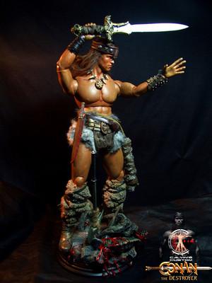 Calvin's Custom One Sixth scale Arnold Schwarzenegger Conan the Destroyer figure