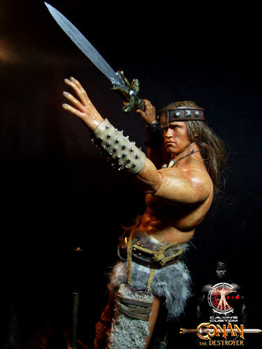 Arnold Schwarzenegger Hintergrund titled Calvin's Custom One Sixth scale Arnold Schwarzenegger Conan the Destroyer figure