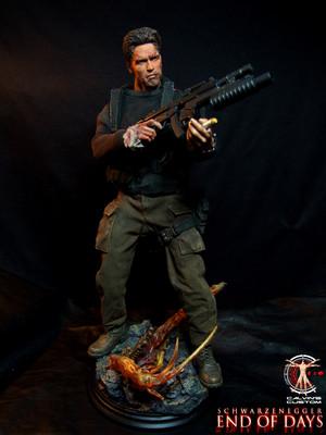 Calvin's Custom One Sixth scale Arnold Schwarzenegger End of Days Jericho Cane figure