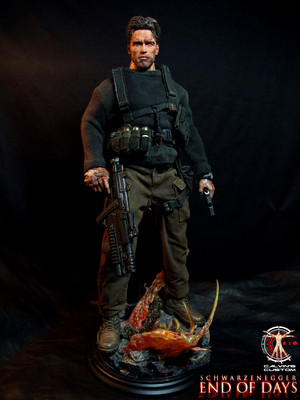 Calvin's Custom One Sixth scale Arnold Schwarzenegger End of Days Jericho Cane figure