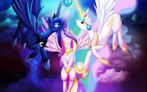 My Little ngựa con, ngựa, pony - Friendship is Magic hình nền entitled Celestia and Luna