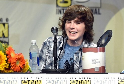 Chandler Riggs Hintergrund titled Chandler at Comic Con 2014