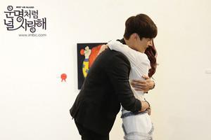 Choi Jin Hyuk and Jang Nara hug at still cuts from ''Fated To Love You''