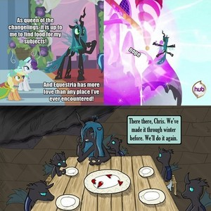 Chrysalis and Her Changelings