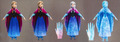 Concept art of Elsa's powers in the last act of アナと雪の女王