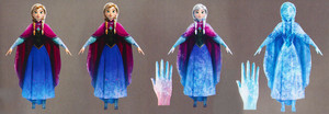 Concept art of Elsa's powers in the last act of Frozen