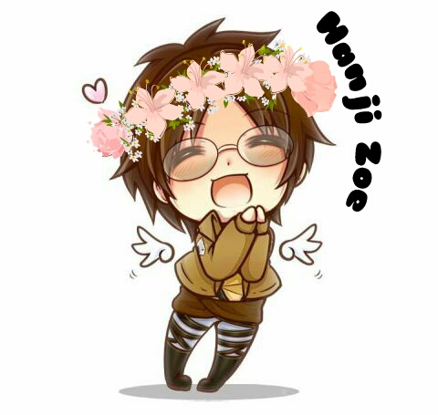 Shingeki no Kyojin (Attack on titan) wallpaper possibly with a bouquet entitled Cute Hanji Zoe