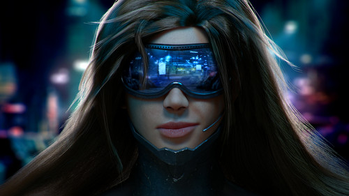 zanhar1 দেওয়ালপত্র titled Cyber Girl