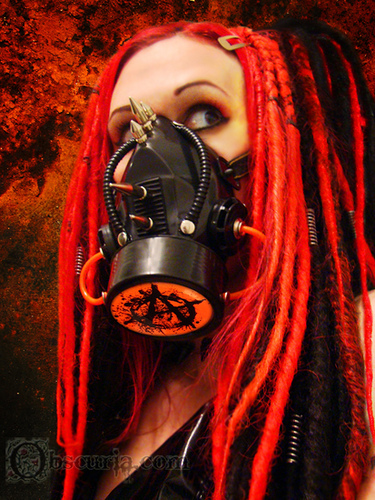 Cyber Gothic wallpaper probably with a gasmask entitled Cyber Goth