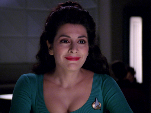 Star Trek-The Next Generation wallpaper possibly containing a portrait entitled Deanna Troi