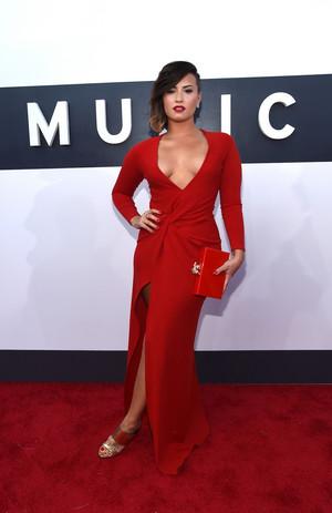 Demi attending the 2014 MTV Video Awards