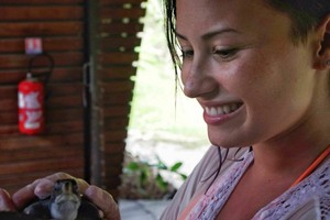 Demi became a Godparent of a カメ at the Meridien Resort in Bora Bora - August 2014