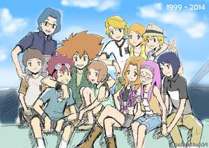 Digidestineds from Digimon Adventure