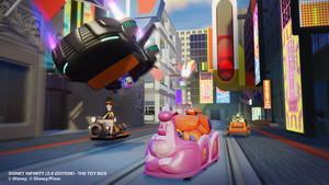 Дисней Infinity 2.0 Toybox Screenshots featuring Hiro and Baymax