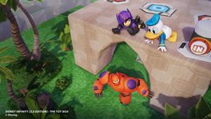 Disney Infinity 2.0 Toybox Screenshots featuring Hiro and Baymax