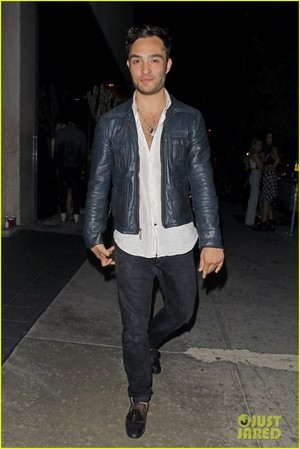 Ed Westwick Keeps His sando Unbuttoned