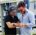 Ed Westwick Stops by Rite Aid Pharmacy for a Set of Crutches - ed-westwick photo