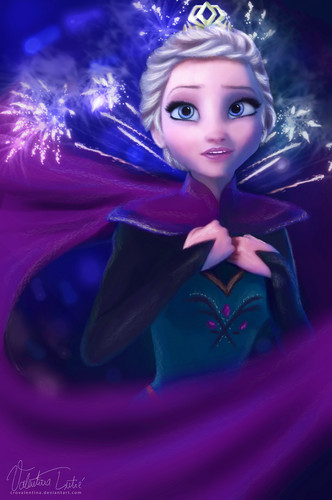 Elsa und Anna Hintergrund titled Elsa