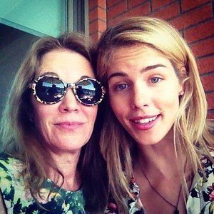 Emily with her family