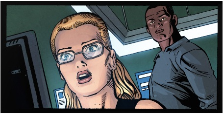 Emily Bett Rickards 壁纸 containing 日本动漫 called Felicity's first look in the comics