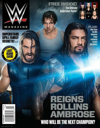 WWE kertas dinding containing Anime called Final issue of WWE Magazine