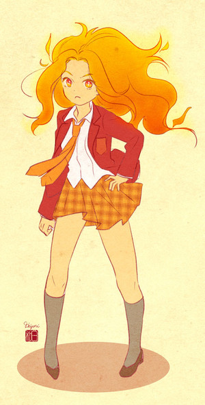 Flame princess school uniform