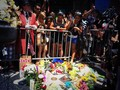 Flowers placed at Robin Williams's Star Walk Of Fame In Hollywood August 11th 2014 LEGENDS NEVER DIE - justin-bieber photo