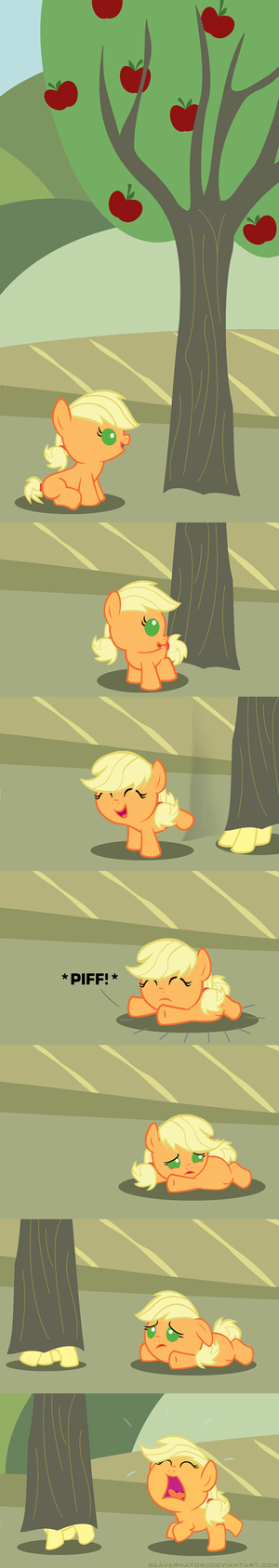 Fluttershy and appeldrank, applejack as Babies