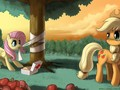 Fluttershy and applejack