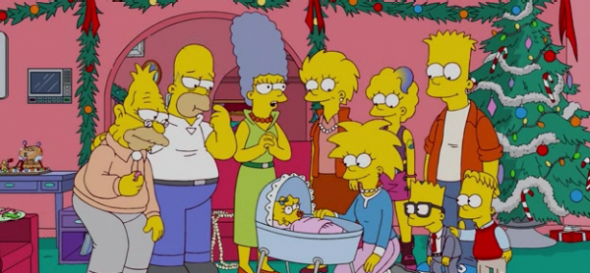 Four generations of the Simpsons