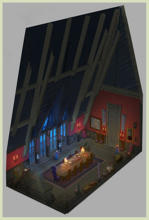 frozen - Arendelle castillo Concept Art