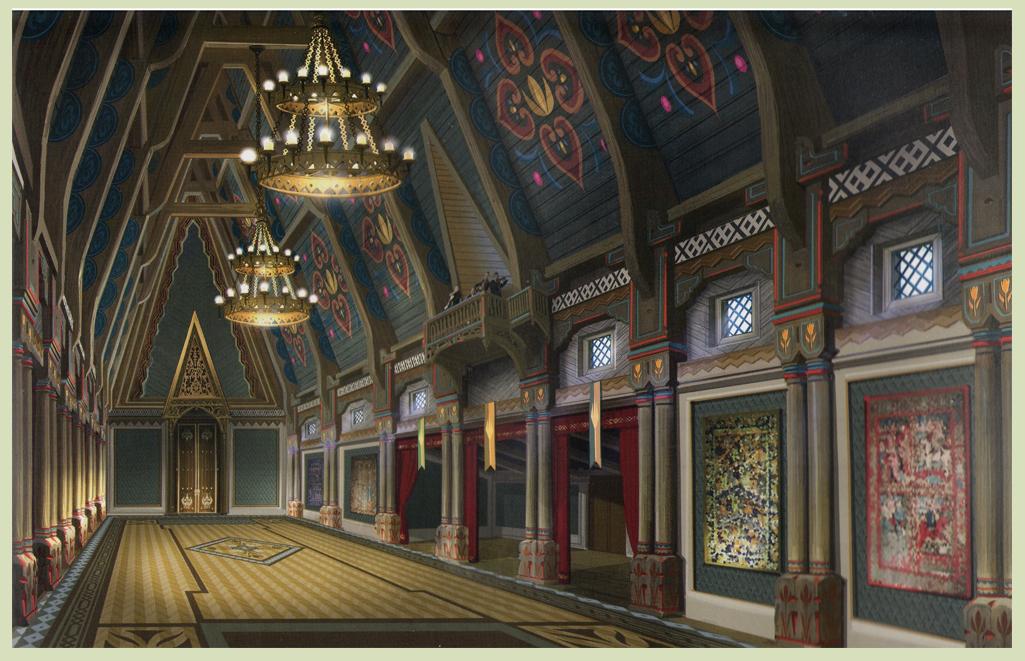 Frozen - Arendelle kastil, castle Concept Art