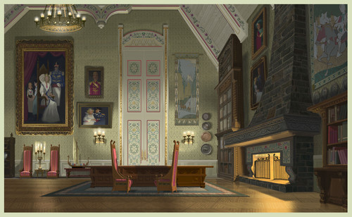 Frozen kertas dinding possibly containing a drawing room entitled Frozen - Arendelle istana, castle Concept Art