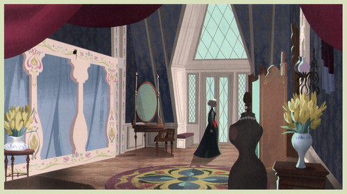 nagyelo wolpeyper with a drawing room, a living room, and a parlor called nagyelo - Arendelle kastilyo Concept Art
