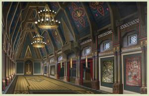 Frozen - Arendelle istana, castle Concept Art