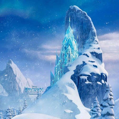 frozen fondo de pantalla probably with a snowbank, an igloo, and a ski resort called frozen | Elsa's Ice castillo