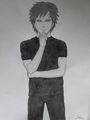Gaara deep in thought - gaara-of-suna fan art
