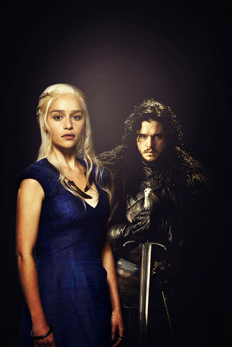 Game of Thrones wallpaper entitled Daenerys Targaryen & Jon Snow