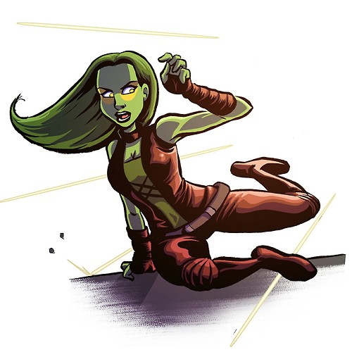Guardians of the Galaxy 바탕화면 possibly with 아니메 titled Gamora Fanart
