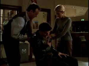 Giles Angel and Buffy