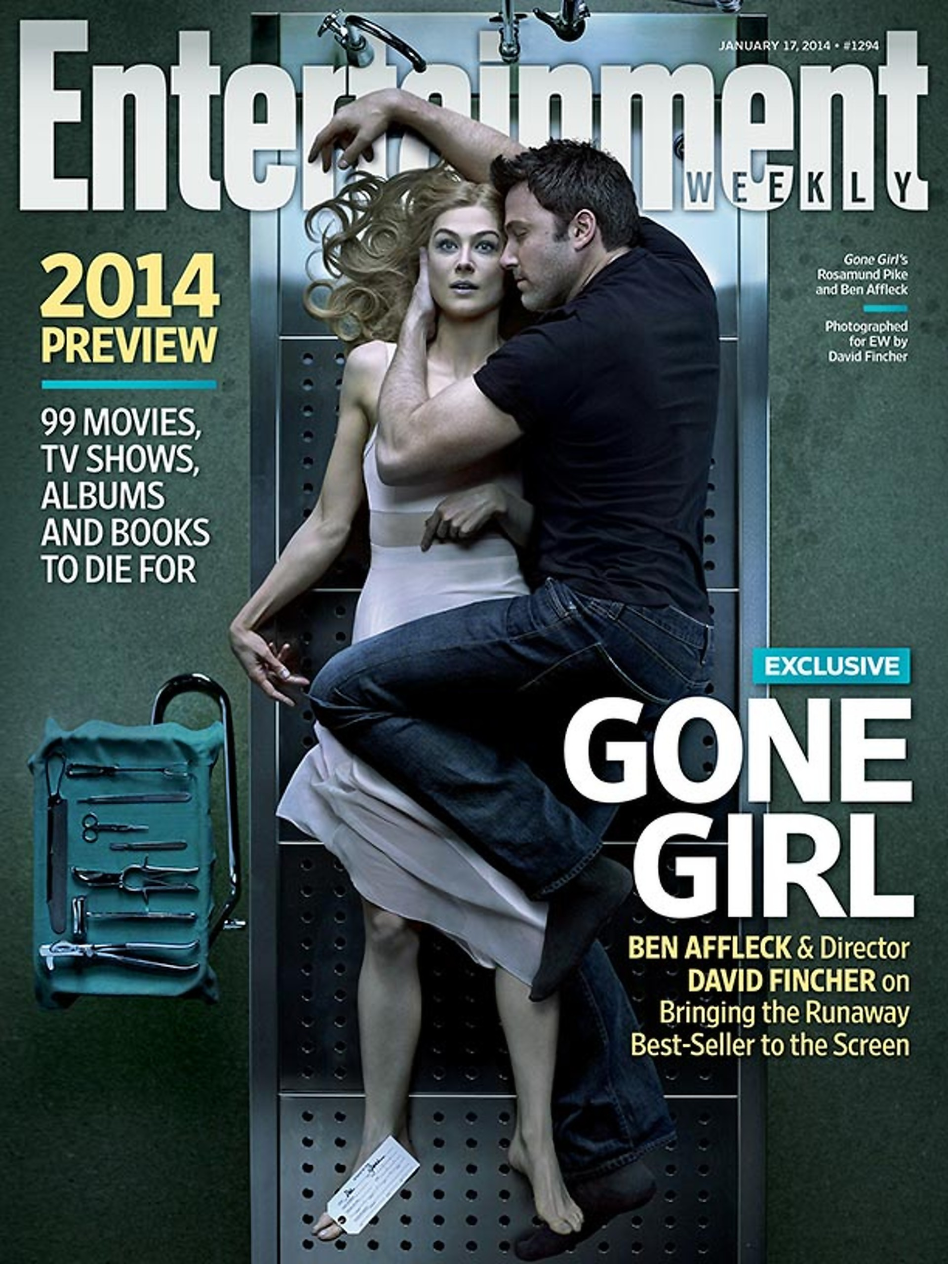 gone girl images gone girl entertainment weekly cover