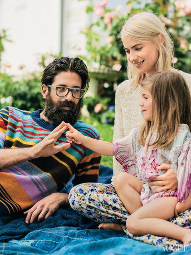 Laura Ramsey wallpaper possibly with a portrait titled Greg Chait, Laura Ramsey and their daughter Dorothy