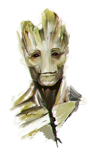 Guardians of the Galaxy 바탕화면 possibly containing a red cabbage titled Groot Fanart