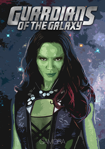 Guardians of the Galaxy 바탕화면 containing 아니메 entitled Guardians of the Galaxy [Gamora]