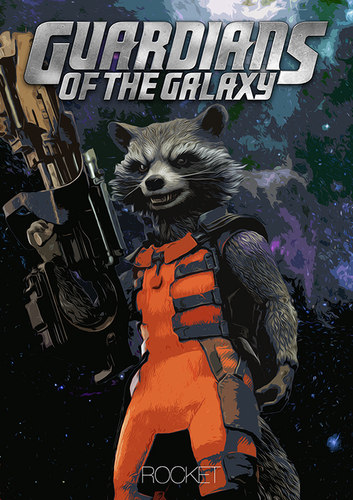 Guardians Of The Galaxy Wallpaper Probably Containing Anime Called Rocket Raccoon