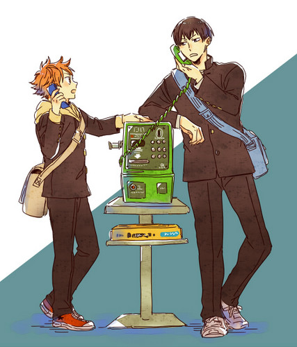 Haikyuu!!(High Kyuu!!) 壁纸 possibly containing a telephone booth and a well dressed person titled HQ