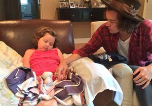 Harry with the Cancer Patient <3